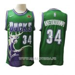 Maillot Milwaukee Bucks Giannis Antetokounmpo No 34 2019-20 Vert