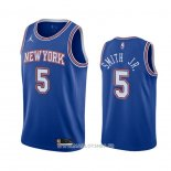 Maillot New York Knicks Dennis Smith Jr. No 5 Statement 2020-21 Bleu