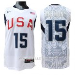 Maillot USA 2008 Anthony No 15 Blanc