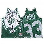 Maillot Boston Celtics Larry Bird NO 33 Mitchell & Ness Big Face Vert