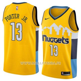 Maillot Denver Nuggets Michael Porter Jr. No 13 Statement 2018 Jaune