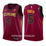 Maillot Enfant Cleveland Cavaliers J.r. Smith No 5 Icon 2017-18 Rouge