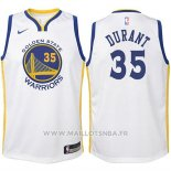 Maillot Enfant Golden State Warriors Kevin Durant No 35 2017-18 Blanc
