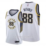 Maillot Indiana Pacers Goga Bitadze No 88 Association Blanc