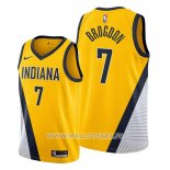Maillot Indiana Pacers Malcolm Brogdon No 7 Statement Edition Jaune