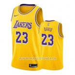 Maillot Los Angeles Lakers Anthony Davis No 23 Icon 2019-20 Jaune