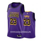Maillot Los Angeles Lakers Anthony Davis No 23 Ville 2019-20 Volet
