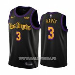 Maillot Los Angeles Lakers Anthony Davis No 3 Ville 2019-20 Noir