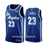 Maillot Los Angeles Lakers Lebron James No 23 Classic 2019-20 Bleu