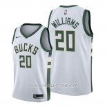 Maillot Milwaukee Bucks Marvin Williams No 20 Association 2019-20 Blanc