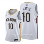 Maillot New Orleans Pelicans Jaxson Hayes No 10 Association 2019-20 Blanc