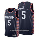Maillot New York Knicks Dennis Smith Jr. No 5 Ville 2019 Bleu