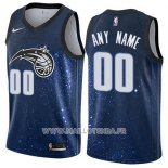 Maillot Orlando Magic Personnalise Ville 2017-18 Bleu