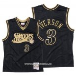 Maillot Philadelphia 76ers Allen Iverson No 3 2020 Chinese New Year Throwback Noir