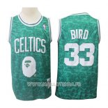 Maillot Boston Celtics Larry Bird No 33 Mitchell & Ness Vert