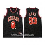 Maillot Chicago Bulls Bape No 93 Mitchell & Ness Noir