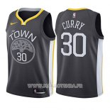 Maillot Enfant Golden State Warriors Stephen Curry No 30 Statement 2017-18 Gris