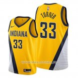 Maillot Indiana Pacers Myles Turner No 33 Statement Edition Jaune