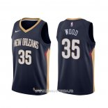 Maillot New Orleans Pelicans Christian Wood NO 35 Icon Bleu