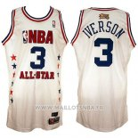 Maillot All Star 2003 Allen Iverson No 3 Blanc