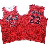Maillot Chicago Bulls Michael Jordan No 23 Mitchell & Ness Rouge2