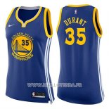 Maillot Femme Golden State Warriors Kevin Durant No 35 Icon 2017-18 Bleu