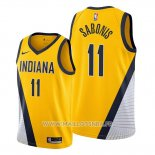 Maillot Indiana Pacers Domantas Sabonis No 11 Statement Edition Jaune