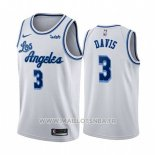 Maillot Los Angeles Lakers Anthony Davis No 3 Classic 2019-20 Blanc