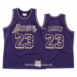 Maillot Los Angeles Lakers Lebron James No 23 2020 Chinese New Year Throwback Volet