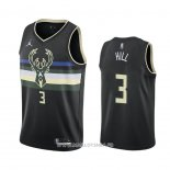 Maillot Milwaukee Bucks George Hill No 3 Statement 2020-21 Noir