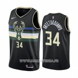 Maillot Milwaukee Bucks Giannis Antetokounmpo No 34 Statement 2019-20 Noir