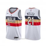 Maillot New Orleans Pelicans Darius Miller NO 21 Earned Blanc