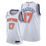 Maillot New York Knicks Iggy Brazdeikis No 17 Statement 2019-20 Blanc