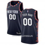 Maillot New York Knicks Personnalise Ville Edition Bleu