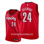 Maillot Portland Trail Blazers Kent Bazemore No 24 Earned 2019 Rouge