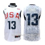 Maillot USA 2008 Paul No 13 Blanc
