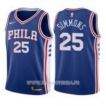 Maillot Enfant Philadelphia 76ers Ben Simmons No 25 Icon 2017-18 Bleu