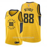 Maillot Indiana Pacers Goga Bitadze No 88 Statement Or