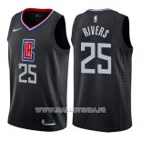 Maillot Los Angeles Clippers Austin Rivers No 25 Statement 2019 Noir