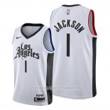 Maillot Los Angeles Clippers Reggie Jackson No 1 Classic 2019-20 Blanc
