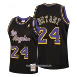 Maillot Los Angeles Lakers Kobe Bryant No 24 Reload Classic Hardwood 2020 Noir