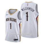 Maillot New Orleans Pelicans Zion Williamson No 1 Association 2019-20 Blanc