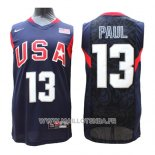 Maillot USA 2008 Paul No 13 Bleu
