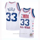 Maillot All Star 1985 Larry Bird NO 33 Blanco