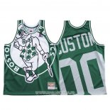 Maillot Boston Celtics Personnalise NO 0 Mitchell & Ness Big Face Vert