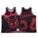 Maillot Chicago Bulls Lauri Markkanen NO 24 Mitchell & Ness Big Face Noir