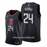 Maillot Los Angeles Clippers Paul George No 24 Statement 2019-20 Noir