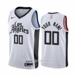 Maillot Los Angeles Clippers Personalizad Ville 2019-20 Blanc