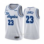 Maillot Los Angeles Lakers Lebron James No 23 Classic 2019-20 Blanc