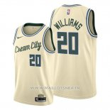 Maillot Milwaukee Bucks Marvin Williams No 20 Ville 2019-20 Crema